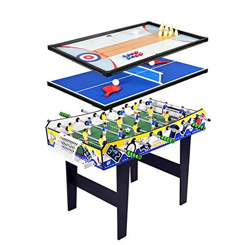 ZHRLQ 4 in 1 Combo-Spieltisch, Kicker, Tischtennisplatte, Bowlingtisch, Shuffleboard-Tisch, Ideal für Kinder, Jugendliche, Erwachsene