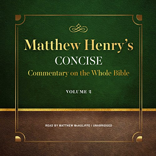 Matthew Henry's Concise Commentary on the Whole Bible, Vol. 2 cover art