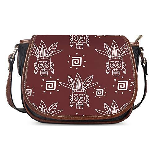 Lady Bags, Bolsos de Las Mujeres Messenger Ladies Bolsa de Hombro Bolsa de niña Personalidad al Aire Libre Femenino Sillín Casual Bag Crossbody,Rojo