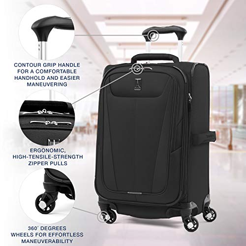 "Travelpro Luggage Maxlite 5 21"" Lightweight Expandable Carry-on Spinner Suitcase, Black"