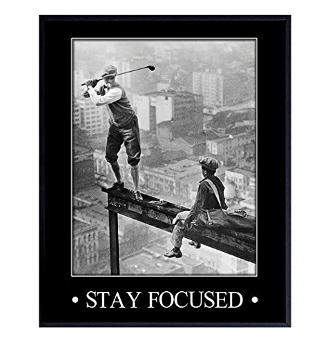 Motivational, Inspirational Art Print - Vintage Golf Wall Art Poster- Chic Rustic Home Decor for Bedroom, Den, Man Cave, Game Room, Office - Great Easy Gift for Golfers - 8x10 Photo- Unframed