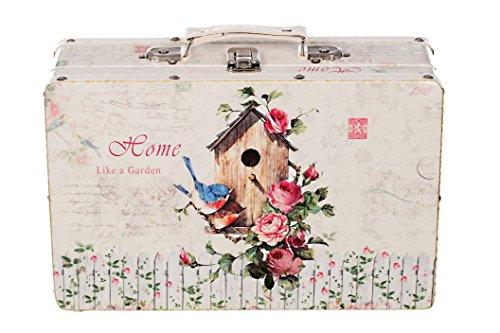 Truhe Kiste KD 1517 Koffer , Kofferset , Holztruhe mit edlem glattem Kunstleder