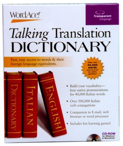 Italian WordAce! Talking Translation Dictionary Software