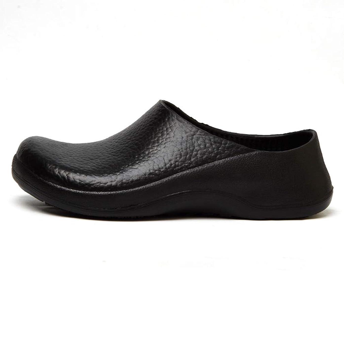 緩む置くためにパック効能あるコックシューズ メンズ 軽量 キッチンシューズ 厨房 安全靴 滑り止め 飲食店 黒 防水 防油 耐滑 大きいサイズ 四季タイプ 作業靴