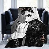 ANGOGO Ultra Soft Flannel Fleece Blanket Prince 'Purple Rain' Stylish Bedroom Living Room Sofa Warm Blanket 60x50inch
