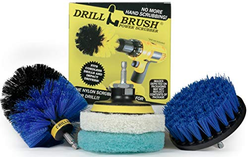 Cleaning Supplies - Bathroom - Kitchen - Drill Brush - Scouring Pad - Kit - Shower Cleaner - Bathtub - Bath Mat - Shower Curtain - Scrub Brush - Tile - Grout Cleaner - Flooring - All Purpose Cleaner