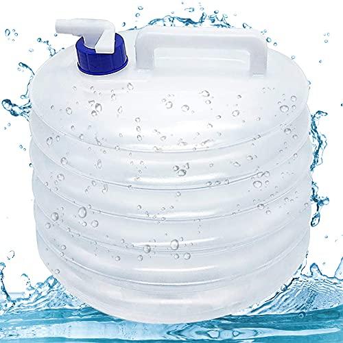 Recipiente Agua Plegable, BKJJ 15L Bidón Plegable para...