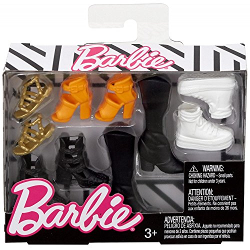 Mattel Barbie Accessories Original & Petite Doll Shoe Pack (Fcr92)