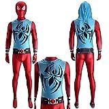 Niños adultos Unisex Superhero Spiderman, traje de araña escarlata Traje de leotardo de una pieza Co...