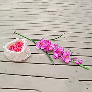 Floral DecorArtificial Gladiolus Flowers and Plants for Wedding Home Decoration Purple