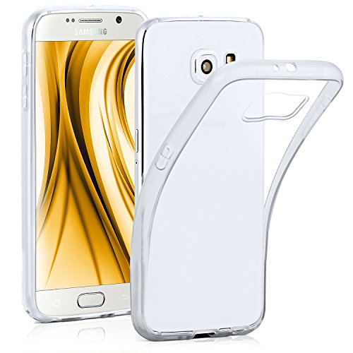 ONEFLOW® Frosted Clear Silikon Case kompatibel mit Samsung Galaxy S6 Hülle Transparent | Handyhülle Durchsichtig Ultra Slim - rutschfest & Dünn, Kristall-Klar