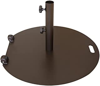 "Abba Patio 55 lb. Steel Market Patio Umbrella Base Stand with Wheel and 2 Separate Poles for 1-1/2"" and 1-7/8"" Diameter Umbrella, Brown"