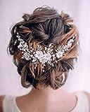 Edary mariée fleur mariage cheveux vigne argent bandeau strass accessoires de cheveux de mariage perle casque de mariée pour femmes et filles