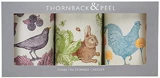 Thornback & Peel Set of 3 Storage Caddie Tins in Three Classic Designs - Made in UK