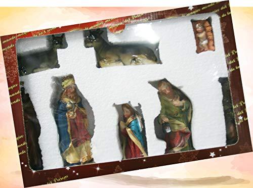 Euronatale Set 8 Personaggi Presepe, protagonisti Natività, in Resina, 15 cm, Multicolore