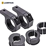 Off-Road ATV UTV Light Bar Mounts Mounting Bracket Bar Clamp Kits [1'/1.5'/1.75'/2' Inch] [Horizontal Bar] [Aluminium] [2 Units] Bull Bar UTV Roll Bar Clamp Tube Roll Cage Clamps Mount For ATV UTV