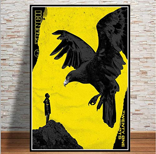 QIANLIYAN Twenty One Pilots Rock Music Band Trench Tour Poster Prints Wall Art Modern Painting Wall Pictures for Living Room Home Decor 40X60Cm Without Frame
