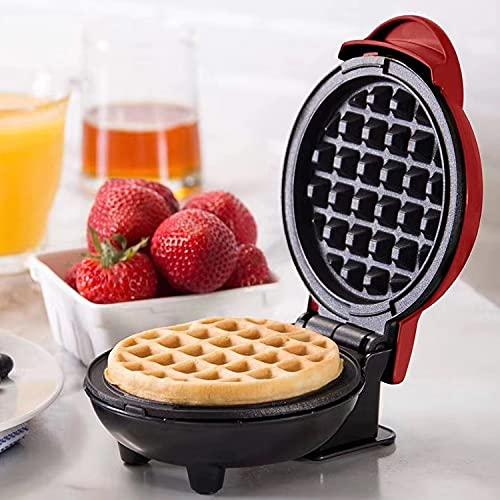 Deasy Placa para gofres de color rojo. Desayuno y Snack – Enchufe EU – 350 W