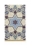 Design Design Judaica Decorative Paper Hand Towels for Bathroom Guest Towels Disposable, Party Napkins Jewish Holidays, Passover, Bar Mitzvah, Hanukkah Blue Pak 30