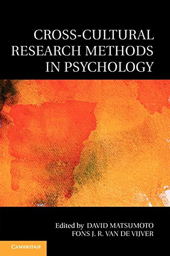 Cross-Cultural Research Methods in Psychology (Culture and Psychology)