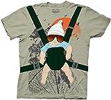 Hangover The Alan Baby Bjorn with Graphic Human Tree Dark Khaki Adult Costume T-Shirt Tee (Small)