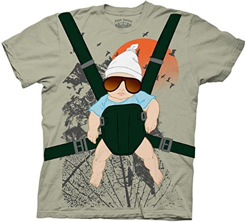 Hangover Alan Baby Bjorn with Graphic Human Tree Dark Khaki Erwachsene Kostüm T-Shirt (Large)