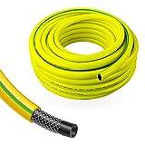 Stabilo-Sanitaer Profi Gartenschlauch Durchmesser: 19mm (3/4 Zoll) Länge: 25m | 3-lagiger Wasserschlauch Gelb | Qualitätsschlauch | Allzweckschlauch