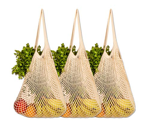 Cotton String Bags  Reusable Produce Bags  EcoFriendly Produce Bags  Mesh Produce Bags  NetZero Produce Bags  Reusable Cotton Produce Bags  String Grocery Bag String Mesh bag  Set of 3