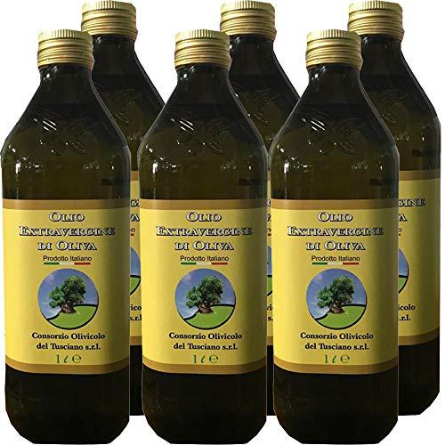 6 Litri di Olio Extravergine d'Oliva | Frantoio Fierro | Confezione 6 Bottiglie da 1 L | 100% Olio Italiano | Estratto a Freddo | Idea Regalo