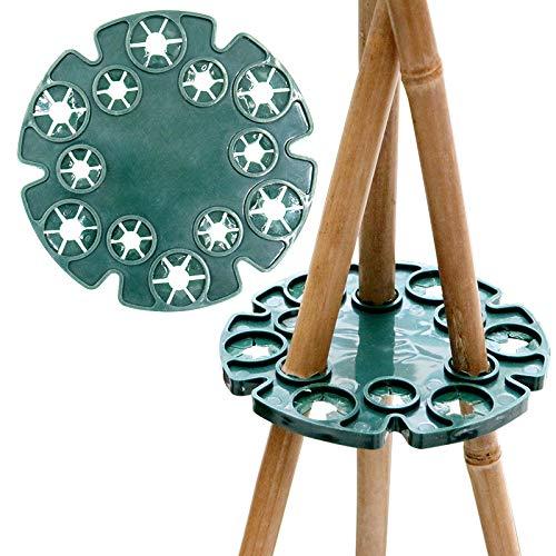 KINGLAKE 5 Stück Plastik Kletterhilfe für Pflanzenstützen, Bambus Rankhilfen Set als Pyramide, Bohnen Ring für Bambusstöcke Rankgerüste