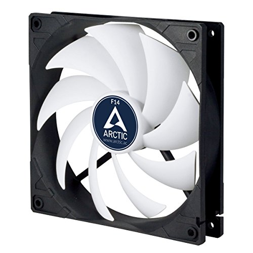 ARCTIC F14 - Ventilador para caja estándar de 140 mm, Extremadamente silencioso, Carcasa estándar, Posibilidad de instalar en dos direcciones, 1350 RPM