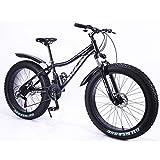 MYTNN Fatbike neues Style 26 Zoll 21 Gang Shimano Fat Tyre Mountainbike 47 cm RH Snow Bike Fat Bike (schwarz)