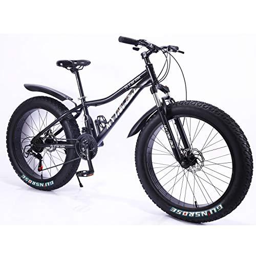 MYTNN Fatbike - Bicicleta de montaña (26 pulgadas, 21 velocidades, Shimano Fat Tyre, 47 cm)