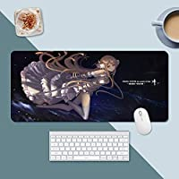 日本の古典的なアニメの剣アートオンラインクールな3D印刷マウスパッドオフィスコンピュータ滑り止めマウスパッドエクストラロングテーブルマット (300×800×3mm,A6)