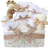 Mr Giraffe - Cesta para bebé unisex, ideal como regalo para recién nacido, regalo para recién nacido, para niños y niñas, regalo para la madre