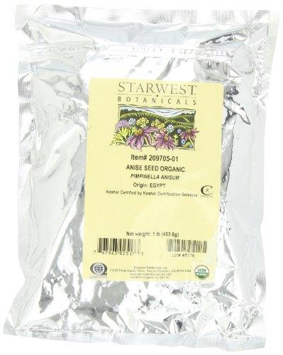 Starwest Botanicals Organic Anise Seed, 1-pound Bag