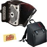 Hohner Panther Diatonic Accordion - Keys F/Bb/Eb Bundle with Gig Bag and Austin Bazaar Pol...