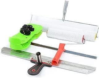 30x 14cm acero inoxidable Kit de Auto Nivelación de cemento epoxi suelo pintura rodillo cuchilla para herramientas con ruedas herramienta de construcción