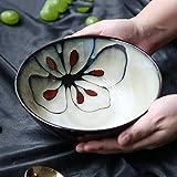 DJY-JY - Ciotola da zuppa in ceramica, stile giapponese, stile retrò, dipinta a mano, 800 ml