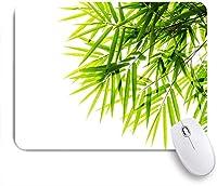 ECOMAOMI 可愛いマウスパッド 健康のための竹の葉のイラストアイコン新鮮な純度静かなアートプリント 滑り止めゴムバッキングマウスパッドノートブックコンピュータマウスマット