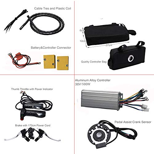 HanSemay 48V 1000W 26' Electric Bike Conversion Kit, Rear Wheel Electric Bicycle Motor Conversion Kit E-bike Cycling Hub