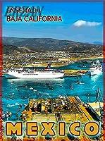 ERZAN30x40cmメタルポスター壁画ショップ看板ショップ看板エンセナダバハカリフォルニアビーチメキシコメキシコ旅行広告家の装飾ブリキ看板