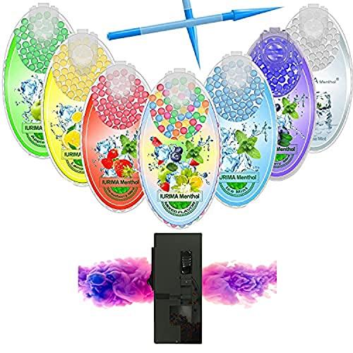 Capsule di menta piperita fai da te al mentolo, con click, 700 capsule, confezione con gusti misti (High-End), fresche per l'estate calda