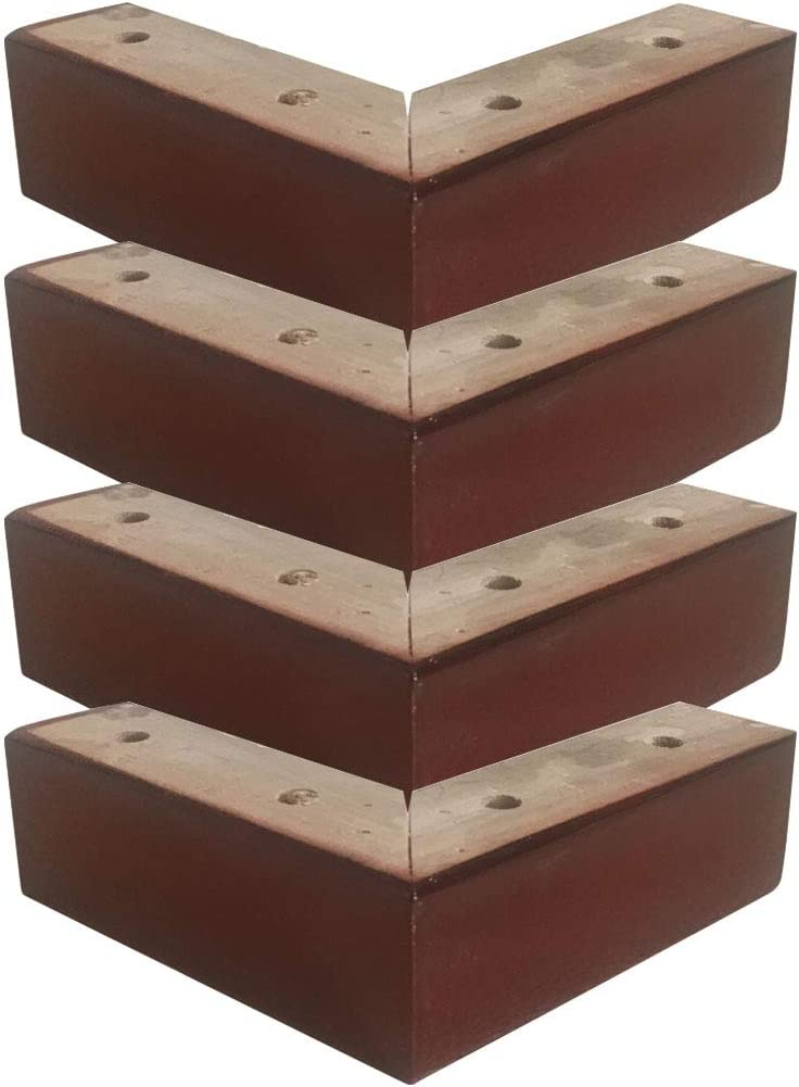 forma,Adecuado para Cama Sof/á Armario Mesa de Centro 4x Patas De Madera para Muebles,Patas de Sof/á,Madera Maciza,7 black