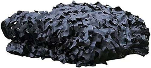 QIANGDA Filet pour Parasol Camouflage Camo Filets Prougeection Solaire des Bois pour Dens Hide Bedroom Décorations De Fête, Noir, Format Personnalisé (Taille   12x12m)