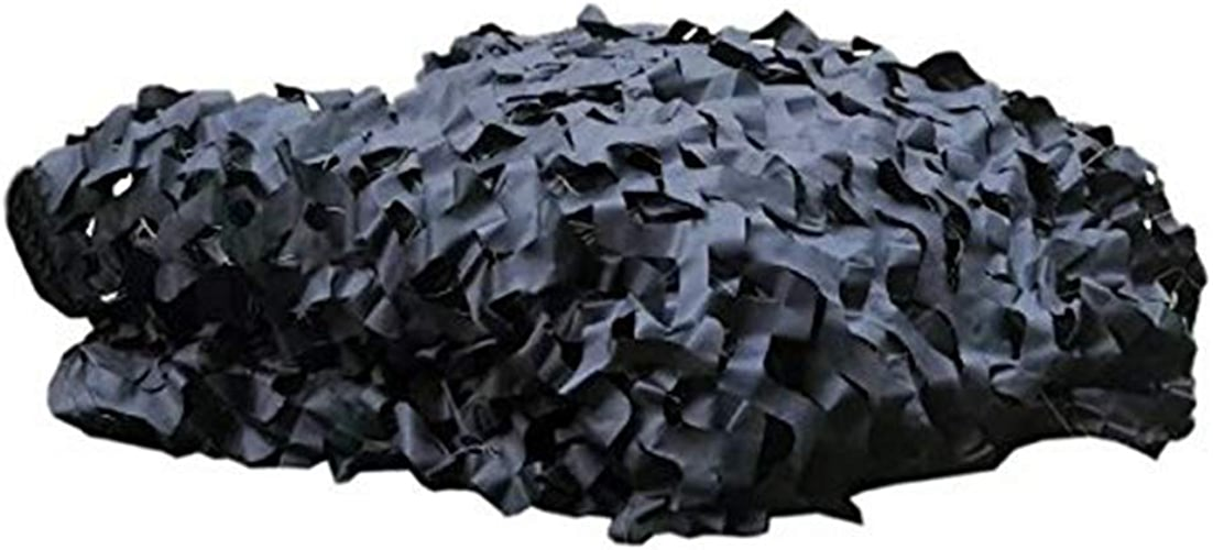 QIANGDA Filet pour Parasol Camouflage Camo Filets Prougeection Solaire des Bois pour Dens Hide Bedroom Décorations De Fête, Noir, Format Personnalisé (Taille   3x7m)