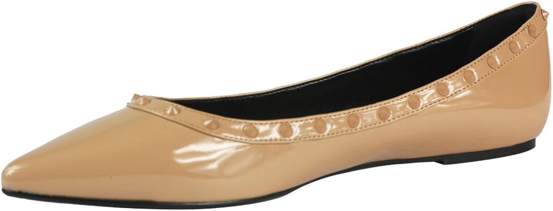 Cracens Ladies Flat Ballet Ballerina Pump Dolly Work shoes Nude