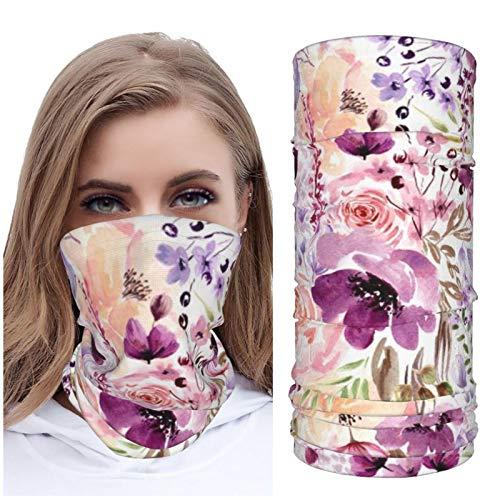 Jack16 Floral Chaos Hielo Seda Cara M_ask Cara Cubierta de Cuello Polaina Headwear Pañuelo Pasamontañas Transpirable para Correr Equitación
