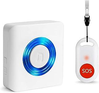 ワイヤレス 呼び出しベル 介護者 ページャ 警報 システムSOS コール ボタン 患者 高齢者 向け パーソナルホーム アテンダントナース 高齢者および 障害者 向け 1受信機& 1ポータブル 発信機