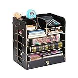Schreibtisch organizer, Multifunktionale kühle moderne quadratische Make-up aus Holz stationäre...